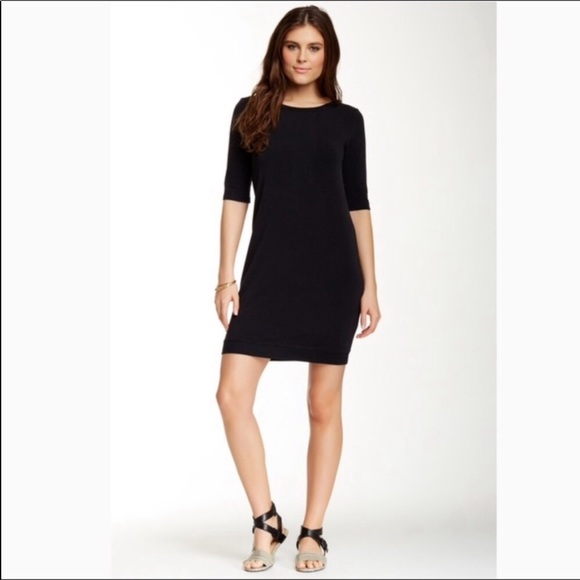 Splendid Dresses & Skirts - Splendid Black Sweatshirt Mini Dress Crew Neck